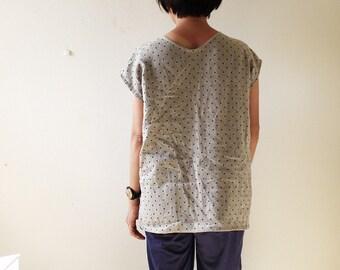 LINEN BLOUSE / ADELE / linen t shirt / womens / linen tee shirt / linen clothing / spring / summer / natural / made in australia pamelatang