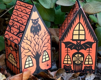 Witch's Cottage Box - Halloween Paper Toy Print - from Paper Cuts by Ulla Milbrath