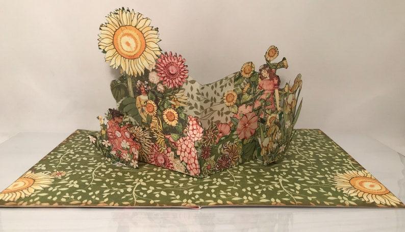 POPUP \u201cSunflower Fairy Queen\u201d Card