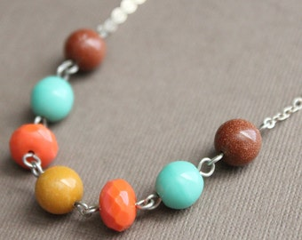 Mix It Up Necklace - Sterling Silver