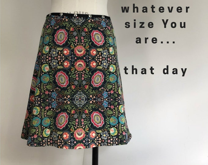 Snap Skirt, Adjustable size, colorful skirt, Erin MacLeod,