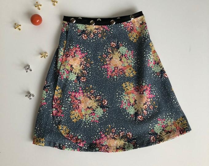 Flower Snap Skirt, Erin MacLeod, adjustable kid skirt