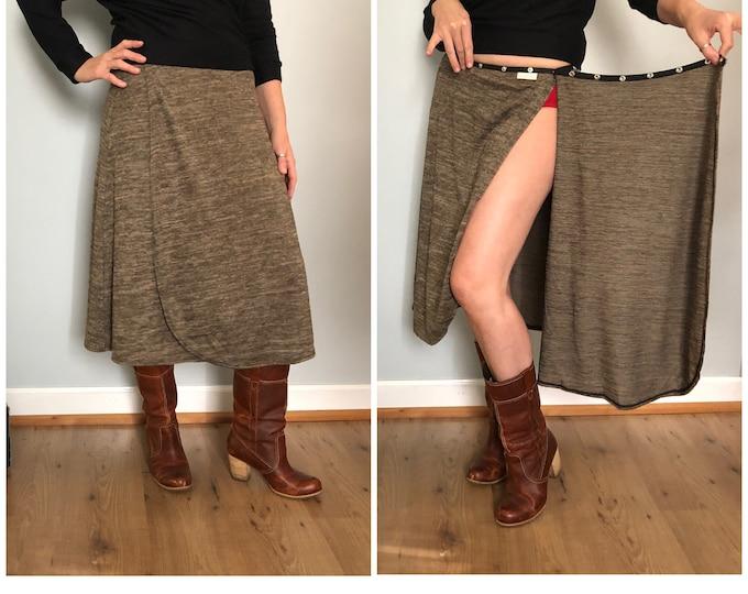 Brown Snap Skirt by Erin MacLeod