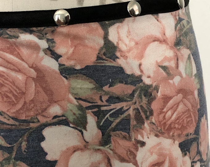 INCREDIBLY SOFT Snap Skirt, by Erin MacLeod, Floral Skirt, Teacher Skirt