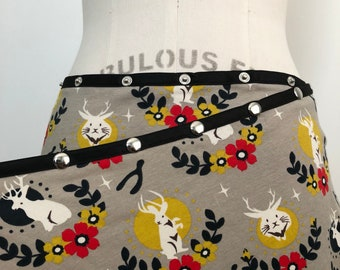 New color! Organic Jackalope Snap Skirt by Erin MacLeod