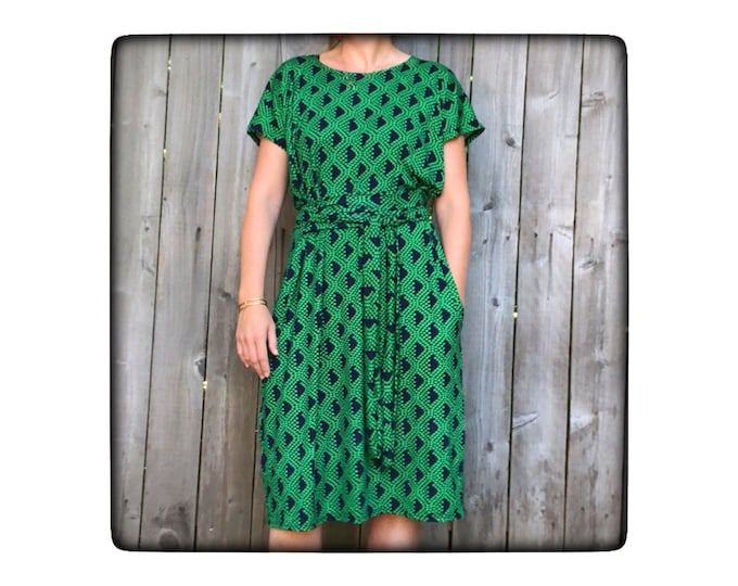 Shift Dress with Pockets Green Shape by Erin MacLeod