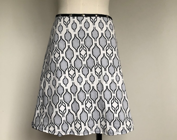 Snap Skirt, Adjustable Black White Bike Handle Skirt, Erin MacLeod,