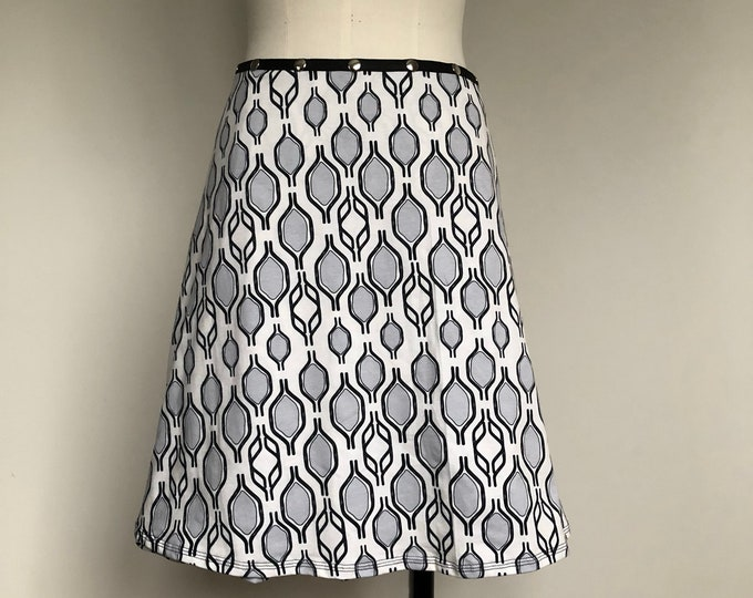 Snap Skirt, Adjustable Black White Bike Handle Skirt, Erin MacLeod,