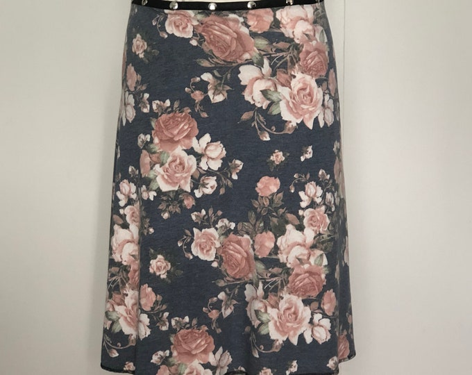 INCREDIBLY SOFT Snap Skirt, by Erin MacLeod, Floral Skirt, Teacher Skirt