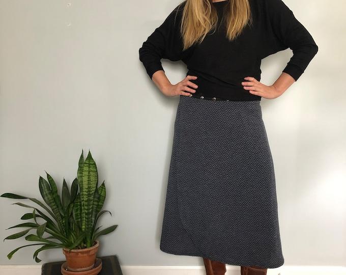 Herringbone Snap Skirt by Erin MacLeod