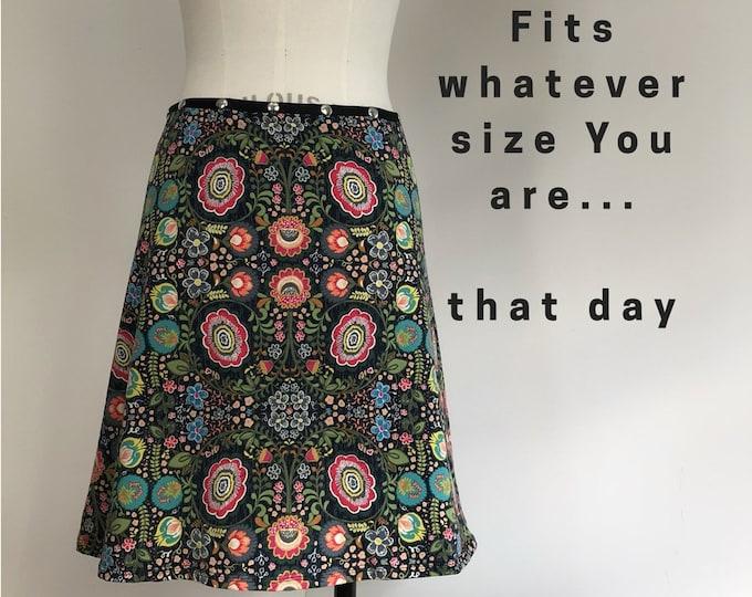 Snap Skirt, Adjustable size, colorful skirt, Erin MacLeod,
