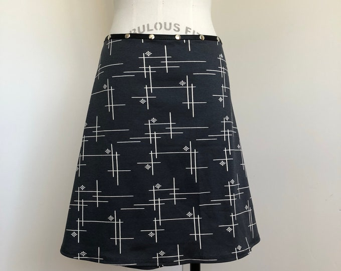 Organic Snap Skirt Navy Blue by Erin MacLeod