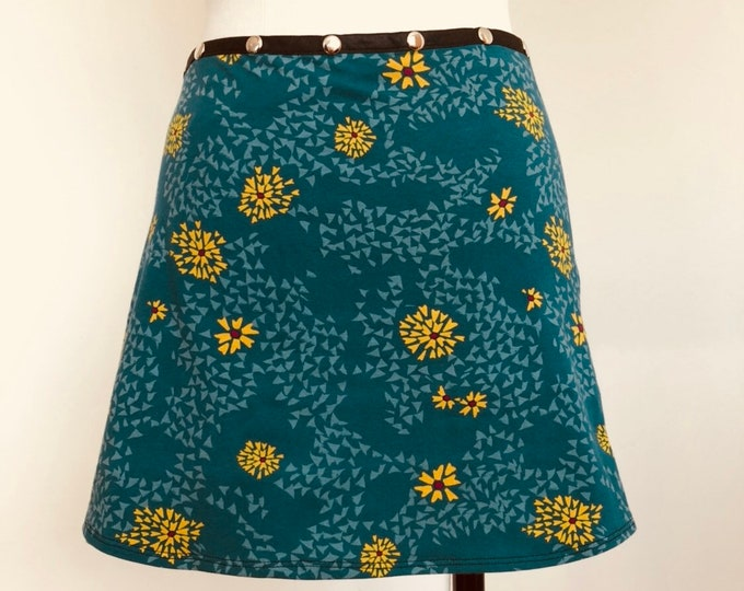 Yoga skirt, Bum cover, Snap Around Skirt, Women Skirt, Plus size, adjustable skirt, blue skirt, cute skirt, Erin MacLeod