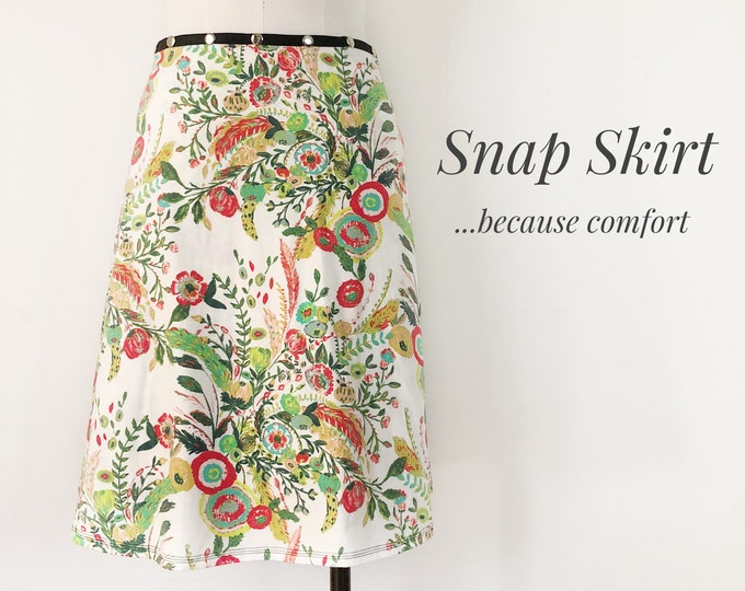 Tropical Travels Snap Skirt by Erin MacLeod