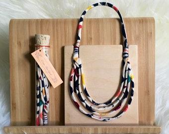 Necklace, unique funky summer choker necklace