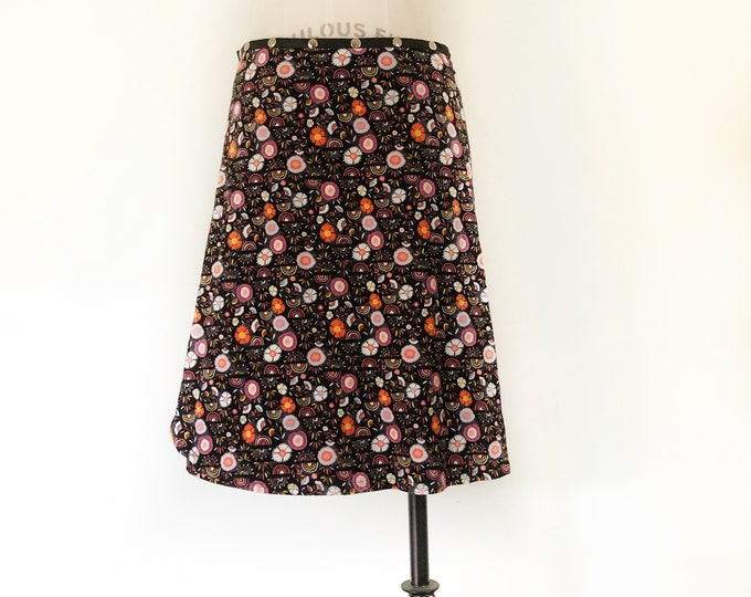 Patterned Snap Skirt by Erin MacLeod
