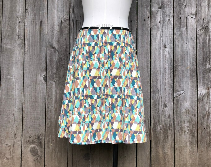 Snap Skirt, Abstract by Erin MacLeod
