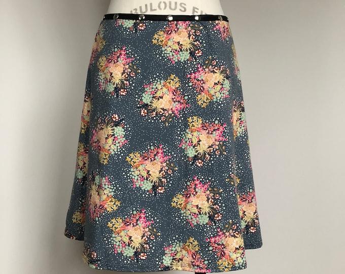 Snap Skirt, Adjustable Flower Bouquet Skirt, colorful skirt, Erin MacLeod,