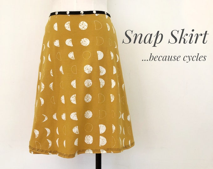 Skirt, Adjustable size, eclipse snap skirt, Erin MacLeod,