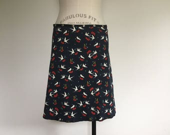Organic Swallow Snap Around Skirt by Erin MacLeod