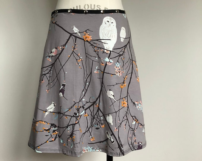 Snap Skirt, Adjustable Owl Skirt, Erin MacLeod, Bird skirt