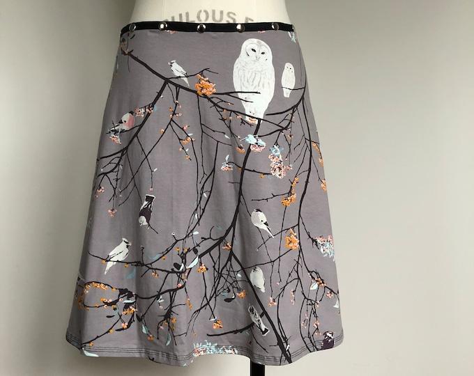 Snap Skirt, Adjustable Owl Skirt, Erin MacLeod, Bird skirt