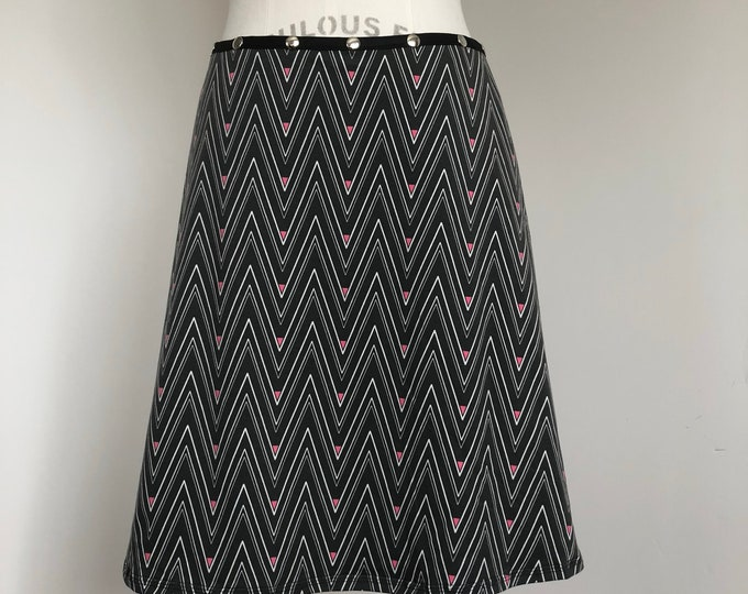 Snap Skirt Pink Dash, by Erin MacLeod
