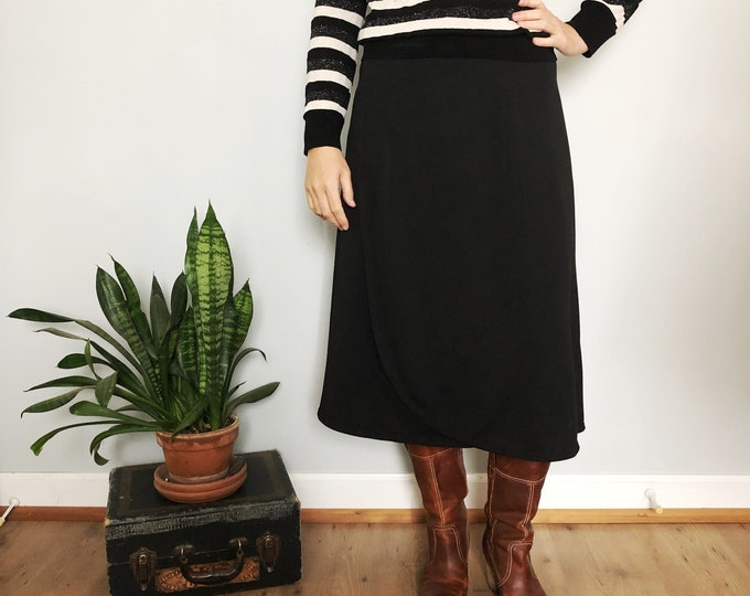 Black Snap Skirt by Erin MacLeod