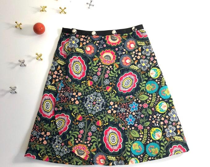 Girl Geo Snap Skirt, Erin MacLeod, adjustable