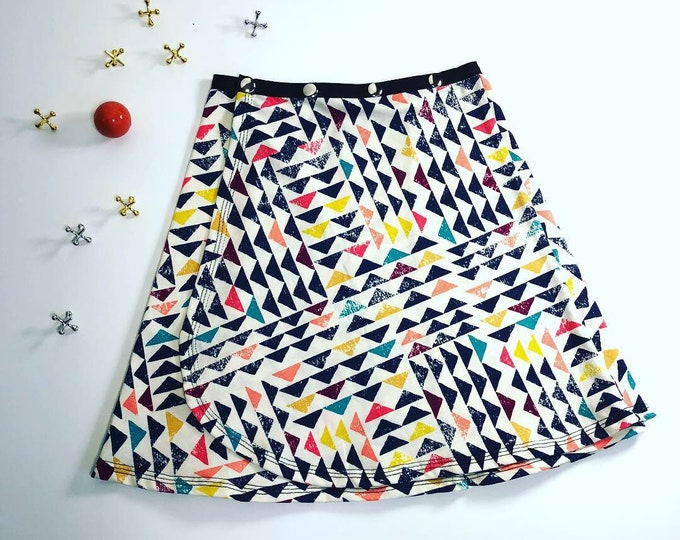 Girl Colorful Snap Skirt, Erin MacLeod, adjustable