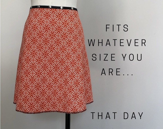 Snap Skirt by Erin MacLeod, Fits whatever size you are that day!