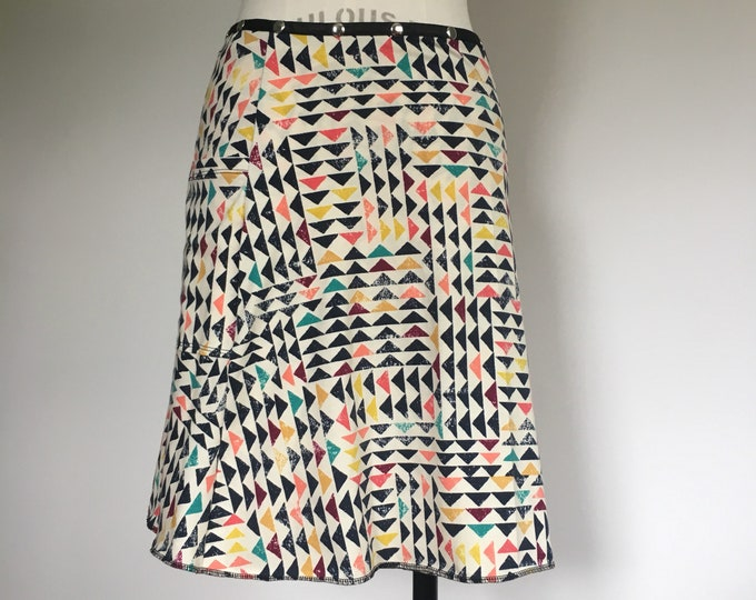 Snap Skirt, Adjustable Wrap Skirt, Erin MacLeod, vacation skirt, cute skirt, colorful summer cotton skirt, plus