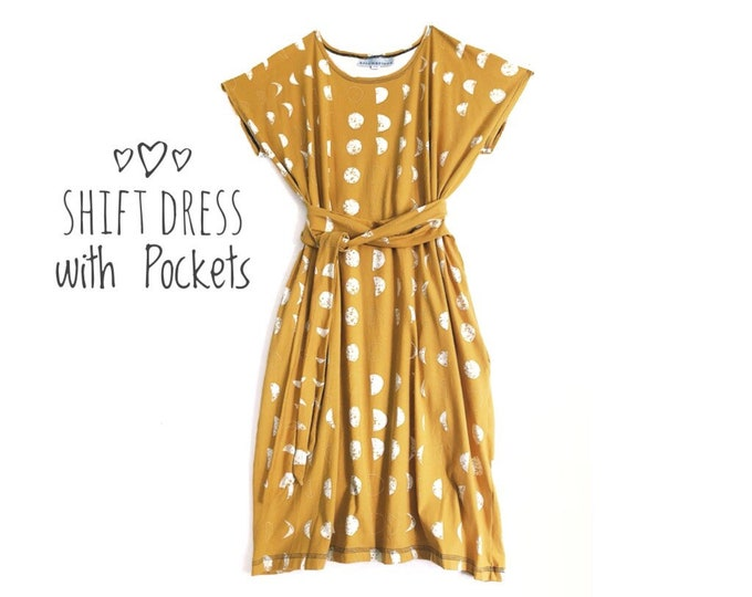Shift Dress with Pockets Eclipse by Erin MacLeod
