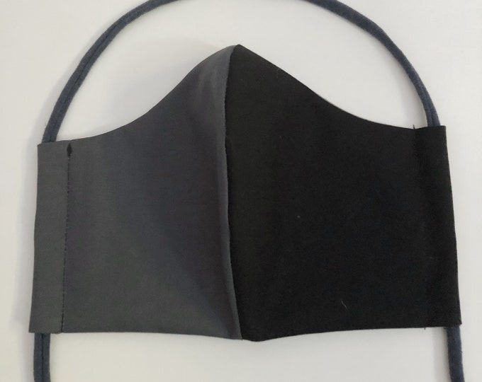 Black half Gray