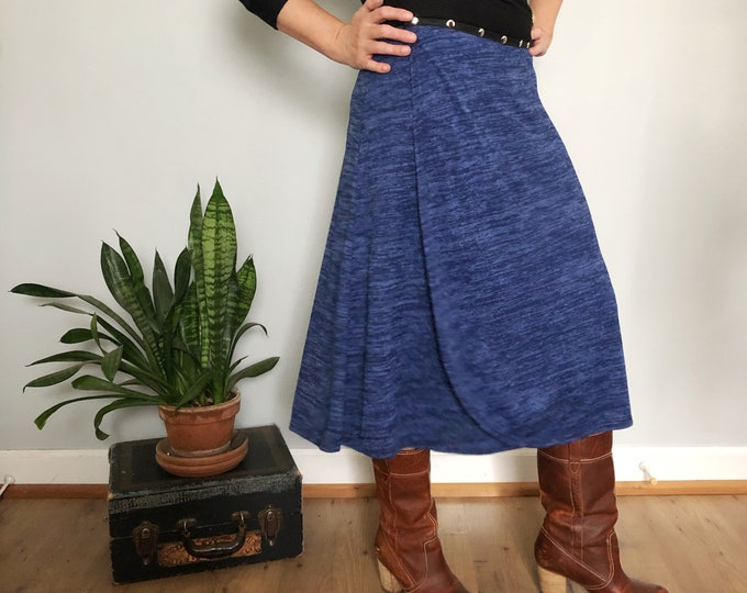 Blue Snap Skirt by Erin MacLeod