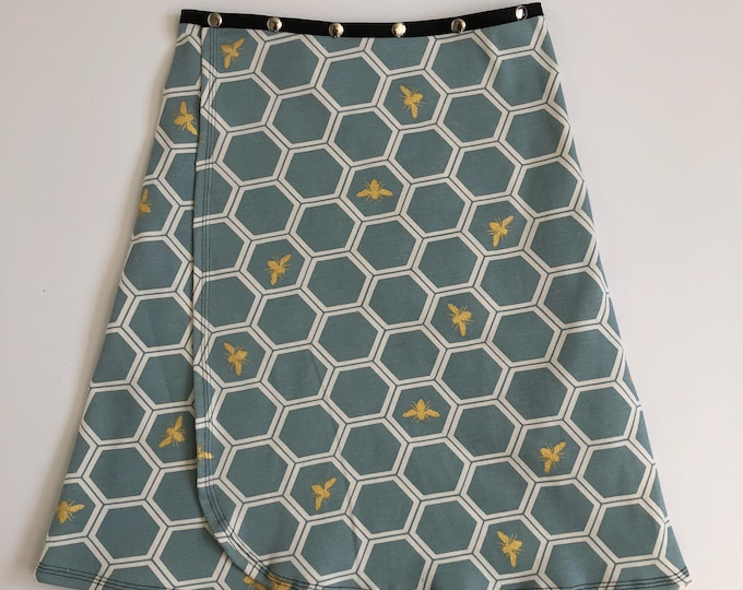 Organic Bee Snap Skirt by Erin MacLeod