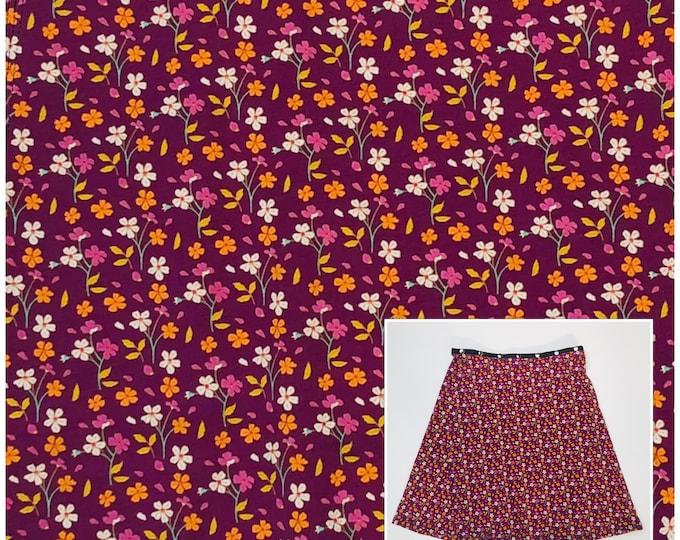 Purple Blossom Skirt