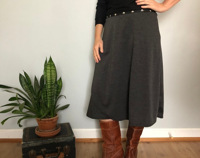 Heather Gray Ponte Knit Skirt by Erin MacLeod