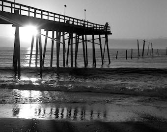 Johnnie Mercer's Pier | Wrightsville Beach | Photography Print | Black & White