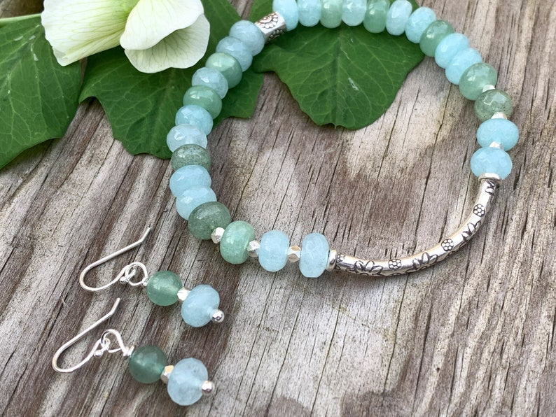 Seaside Bracelet and Earrings  Hill Tribe Thai Silver  image 0