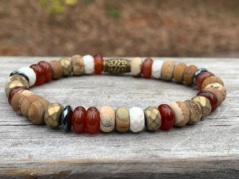 Seeds Eco Bracelet  Inspired by Nature  Carnelian  Jasper  image 0
