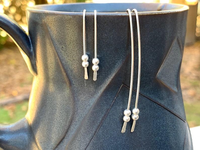 Open Hoop Argentium Sterling Silver Earrings  Sterling Silver image 0