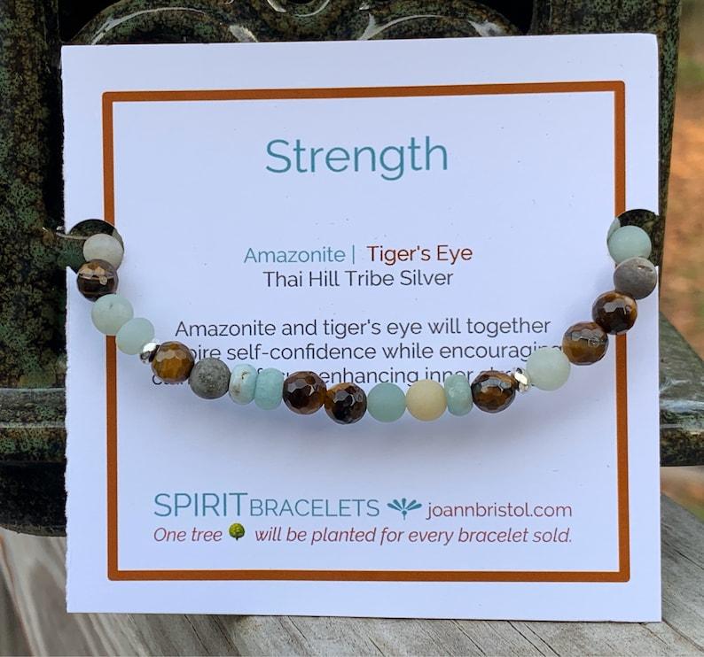 Strength Bracelet  Amazonite  Brown Tiger's Eye  image 0