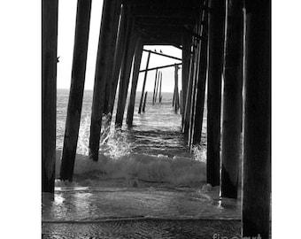 Under Pier, Wrightsville Beach, North Carolina, Photography Print