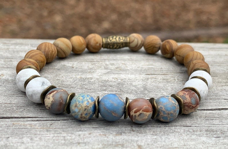 Sea Oats Eco Bracelet  Inspired by Nature  Antique Brass  image 0