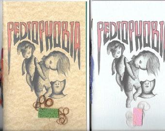 PEDIOPHOBIA by Daniel G. Snethen - 2019 Blood Pudding Press poetry chapbook - creepy, crawly, horrific little doll heads,doll phobia
