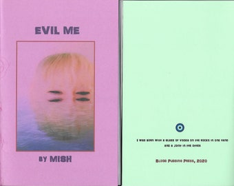 """Evil Me by MISH - 2020 Blood Pudding Press poetry chapbook - evil, quirky, darkly delicious, 19 poems by Eileen """"Mish"""" Murphy"""