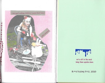 NEW! i saw god cooking children / paint their bones by john compton - 2020 Blood Pudding Press poetry chapbook - 22 poems, abstract, unique
