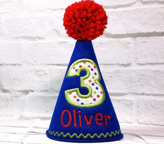 Dog Birthday Hat ROYAL BLUE Party Cake Smash Boy