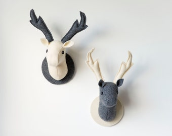Items Similar To Animal Head Wall Hangings Stag And Doe Fake